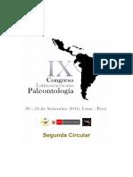 Congreso Paleontologia Lima 2016