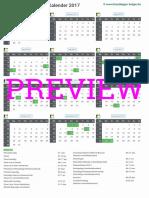 Kalender 2017 a4 Staand Feestdagen Preview