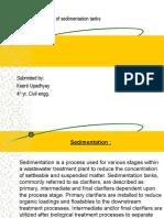 Design Fundamentals of Sedimentation Tanks Keerti