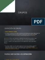 Grupos, Definiciones, Características