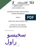 Mapa Conceptual Actuadores-sistemas Programables-tema 2