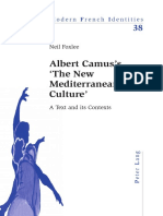 Foxlee, Neil - Albert Camus's the New Mediterranean Culture. A Text and Its Contexts