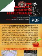 Pre Dimensionamiento de Elementos Estructurales