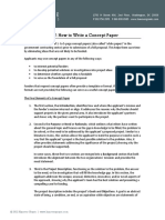 HG Brief - How to Write a Concept Paper
