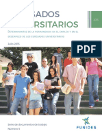 Determinantes Permanencia Empleo Desempleo Egresados Universitarios