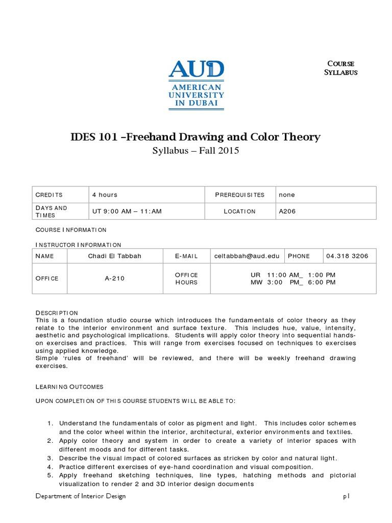 aud ides 101 syllabus design drawing