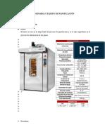 Maquinaria y Equipo de Panificación