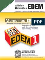 Memorias Primer Encuentro Distrital de Educación Matemática (EDEM-1)