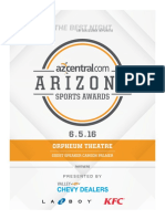 2016 Arizona Sports Awards program