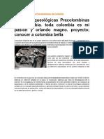 Etapas Arqueológicas Precolombinas de Colombia
