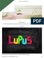 Lupus, ¿Qué Es_ _ El Blog de Meritxell