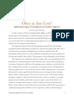 Milgram Study Summary