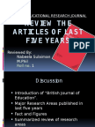 Review the Articles of Last Five Years
