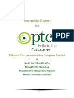 INTERNSHIP REPORT ON PTCL 2016 (MARKETING)