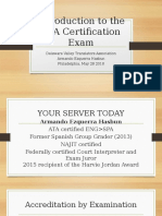 ATA Certification Exam Presentation