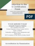 ATA Certification Exam Presentation