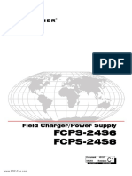 Notifier FCPS 24S6 FCPS 24S8 Field Charger Power Supply