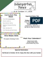 Newsletter Oct. 3rd