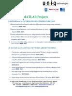 Matlab Ieee 2015 Project List