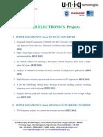 Power Electronics IEEE 2015 Project List