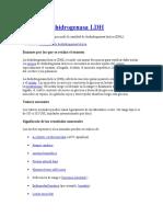 Lactato Deshidrogenasa LDH