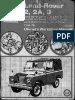 Land Rover 2 2A 3 the Green Bible