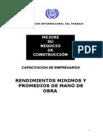 16702779 Rendimientos Mano de Obra Construccion