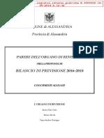 Parere Organo Revisori Bilancio 2016 2018