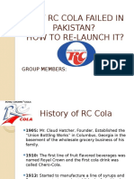 Why Rc Cola Failed in Pakistan