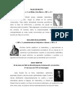 Biografia de Seis Matemáticos