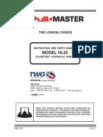 PULLMASTER Model Hl25 Service Manual