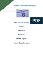 Plan Anual Centro Educativo Federico García Godoy