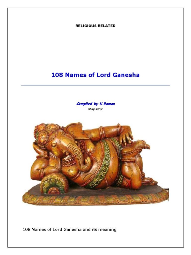 108+Names+of+Lord+Ganesha   Polytheism (13 views)