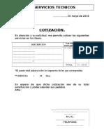 Cotizacion Servicios Tecnicos