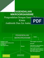 Pengendalian Mikroorganisme Dengan Sarana Bahan Kimia