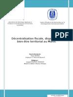 Decentralisation Fiscalite Et Disparites Au Maroc