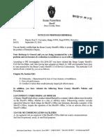 Notice of Proposed Dismissal Served for Deputy Raul T. Cervantes on 09-29-16