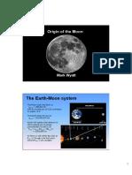 Origin of moon
