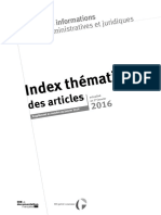 Index Thematique IAJ 2016