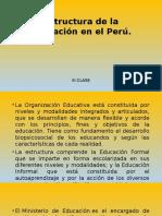 CLASE III Estructura de La Educación en El Perú