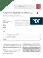 Las Aplicaciones Potenciales de Los Derivados de Origen Vegetal Como Sustitutos de Las Grasas, Antioxidantes y Antimicrobianos en La Fresca y Productos Cárnicos Procesados