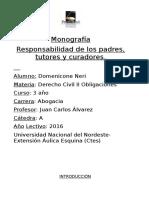 Monografía Responsabilidad Parental 2016