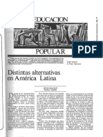 EDUCACIÓN POPULAR Distintas Alternativas en América Latina