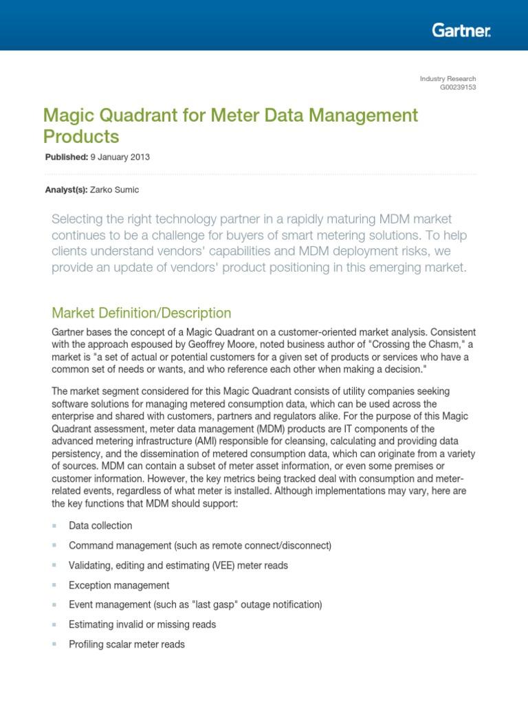 Gartner MDM Report | Strategic Management | Software As A