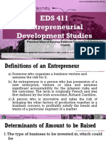 EDS411 Entrepreneural Finance