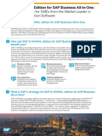 Infographic - SAP S4HANA, Edition for SAP Business All-In-One