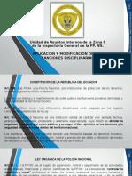 REFORMAS  DISCIPLINARIAS  POLICIA NACIONAL DEL ECUADOR