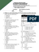Penilaian Tengah Semester (PTS) IPA kelas 7 k13