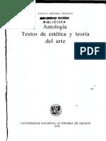 Sánchez, V., A., (1978) Antología. Textos de Estética y Teoría Del Arte. México, UNAM
