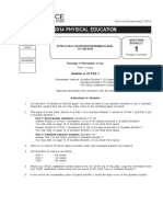 2014 physical education examination paper